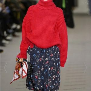Balenciaga oversized wool turtleneck sweater